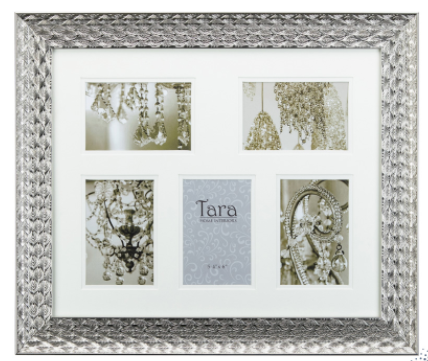 Lavelle collage frame silver 5 4 x 6