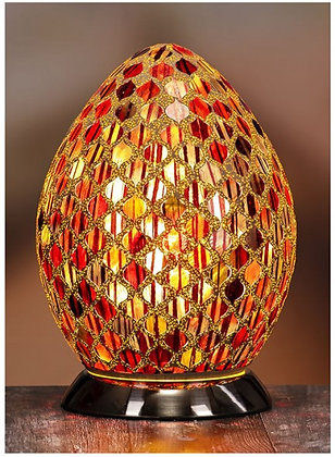 Mirror Work Egg Mosaic Lamp