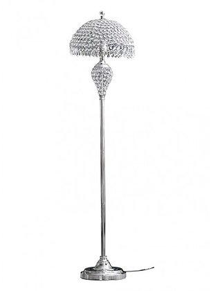 FLOOR LAMP (CRYSTAL SHADE) SILVER