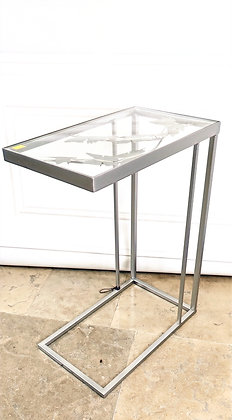 Silver Sofa Table Butterfly Design