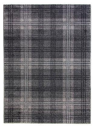 Glendale Tartan Rug-Grey/Black