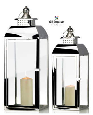 Chrome Lanterns (Set of 2)