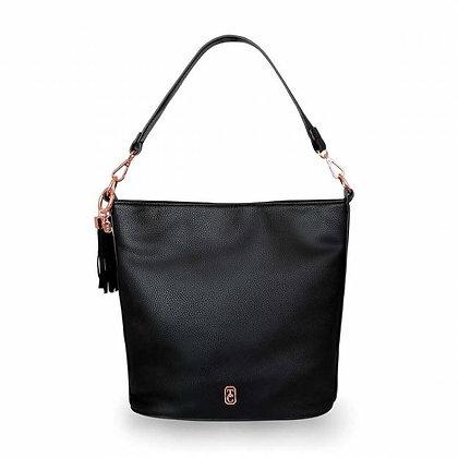 Surrey Black Pebbled Leather Carry Bag