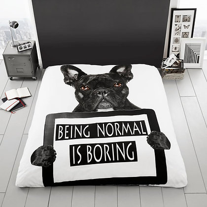 Printed Blanket ''Being Normal is Boring''