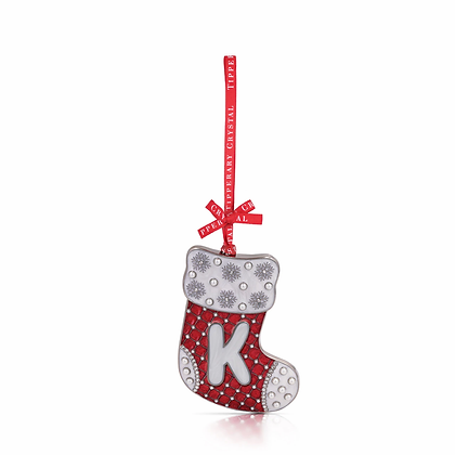 'K' Alphabet Stocking Decoration