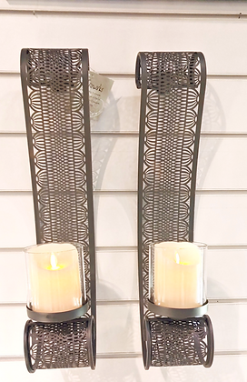 Silver Sconce Set of 2