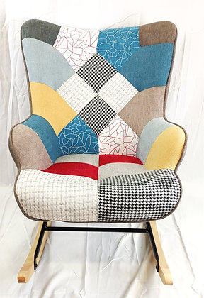 Patchwork Rocking Chair (Stool Optional)
