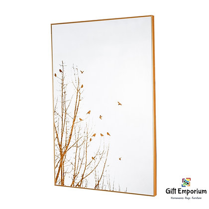 Mirror art forest silhouette gold 60 x 90cm