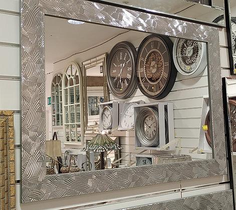 Silver Designer Border Mirror 32*26