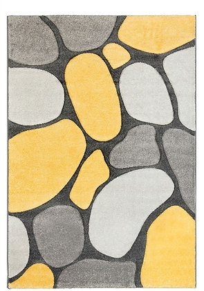 Pebbles Rug-Grey/Yellow