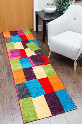 CANDY RUNNER RUG - BLOCKS MULTICOLOURED