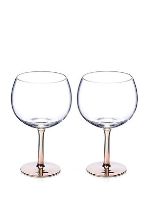 RoseGold Stem Gin Glass (Set of 2)