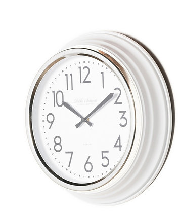 Ivory Retro Cafe Clock