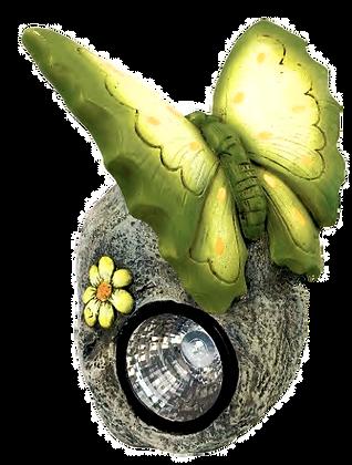 Green Butterfly/Solar Garden Figurine