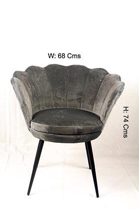 Shell Designed Dark Grey Chair