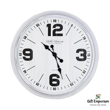 Retro oversize wall clock 76cm antique white B514