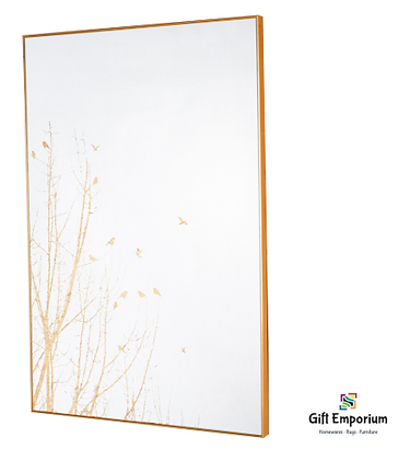 Mirror art forest silhouette gold 60 x 90cm TH5057