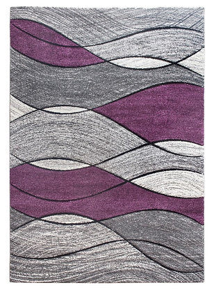 Impulse Waves Rug – Grey/Purple