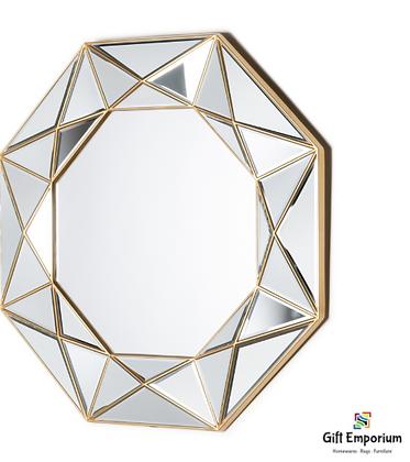 Prism geo mirror gold 90cm B444