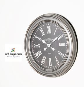 Jana oversize wall clock 76cm rustic grey