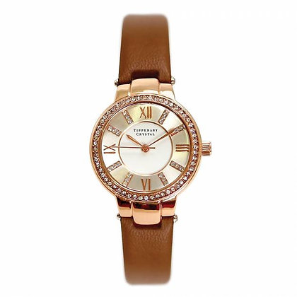 Rose Gold Ladies Watch with Leather Strap