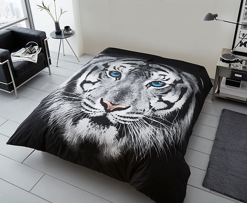 Tiger with Black Background Blanket