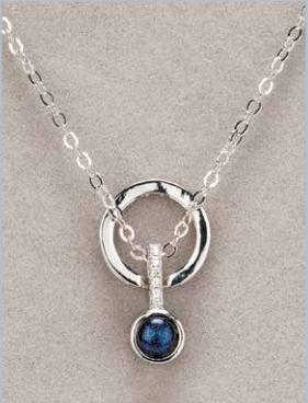 Silver Diamante Bluestone Necklace