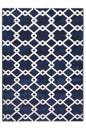 Toscana Quattro Geometric Rug – Blue