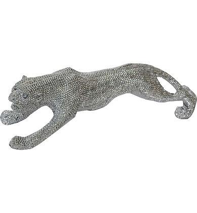 24'' Silver Walking Panther