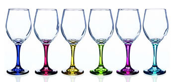 Rainbow Vienna Wine Glasses