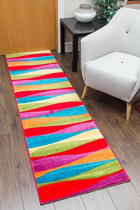 CANDY RUNNER RUG - WAVES MULTICOLOURED