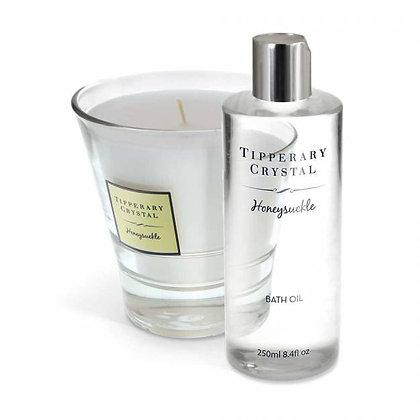 Honeysuckle Candle & Bath Oil Set