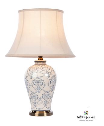 Selena ceramic lamp brushed bronze 57cm