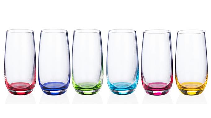 Rainbow Party Hi-ball Glasses