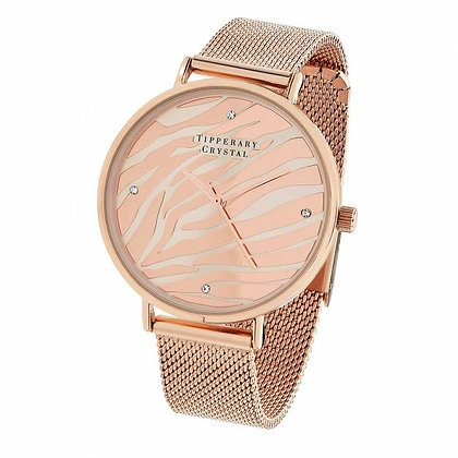 Rose Gold Zebra Watch