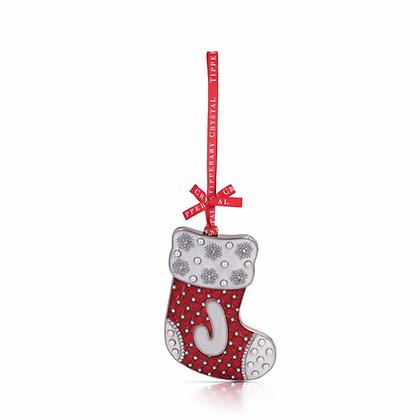 'J' Alphabet Stocking Decoration