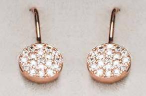 Rose Gold Droplet Earrings