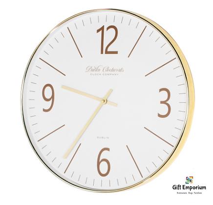 Golden modern clock 50cm