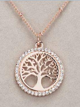 Rose Gold Tree of Life Pendant