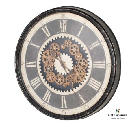 Clockworks gears clock ant grey 76cm TH5053
