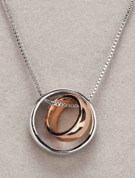 Silver & Rose Gold Ring Pendant