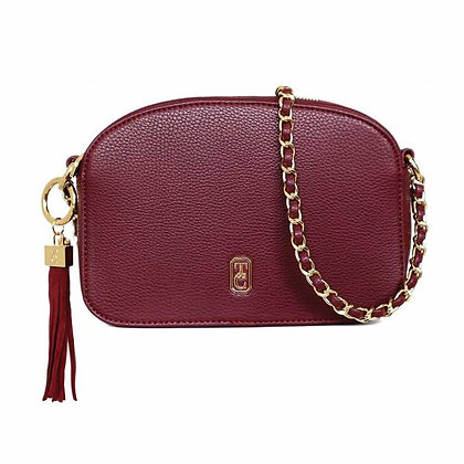 The Cannes Shoulder Bag Burgundy