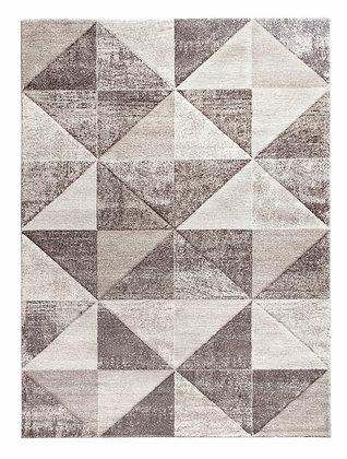 Impulse Triad Geometric Rug – Beige/Brown