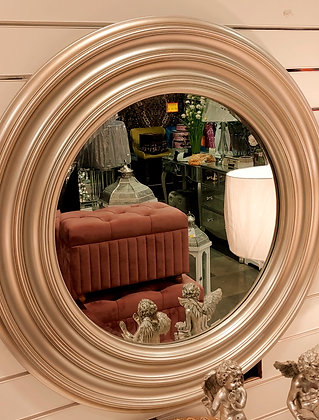 Champagne Round Mirror