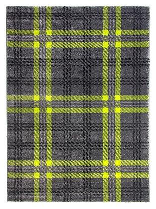 Glendale Tartan Rug-Grey/Green