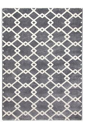 Toscana Quattro Geometric Rug – Medium Grey