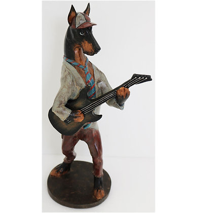 """14"""" Dog with Guitar"""