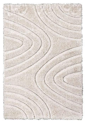 Luxus 3D Shaggy Rug - Ripple -Cream