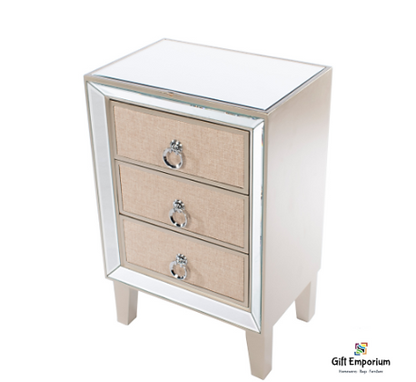 Hayden 3 drawer mirrored locker