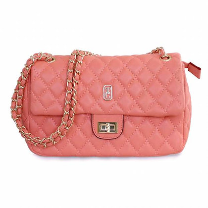 Palermo Coral Padded Handbag